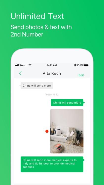 Second Phone Number+ Call App screenshot-5