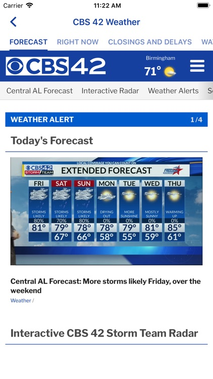 CBS 42 Weather screenshot-1