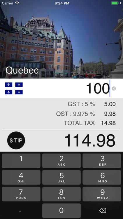 Canadian Sales Tax Calculator screenshot-0