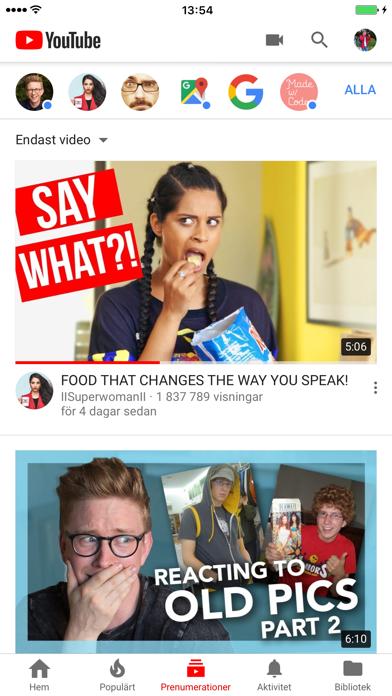 YouTube på PC