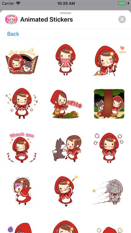 Animated Girls Stickers screenshot-7
