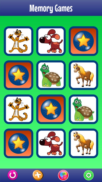 Memory Games with Animals