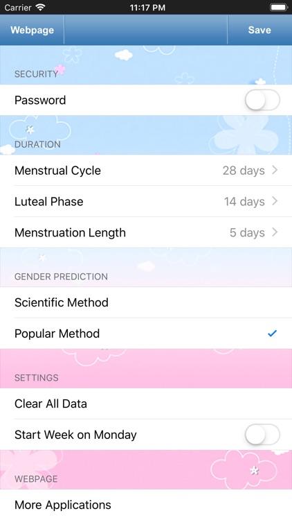 Menstrual Calendar for Men screenshot-4