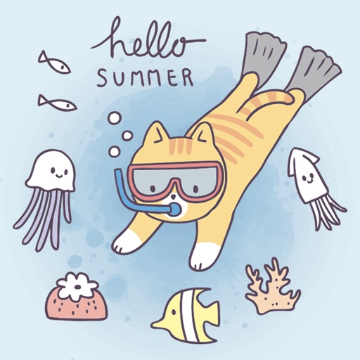 Summer & Vacation Cute Sticker
