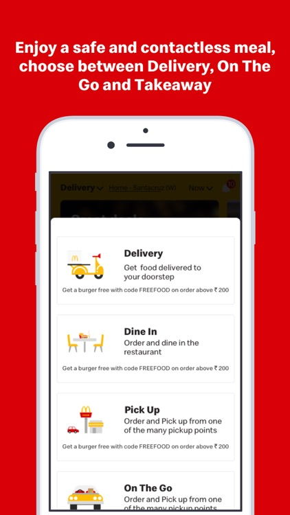 McDelivery India  west & south