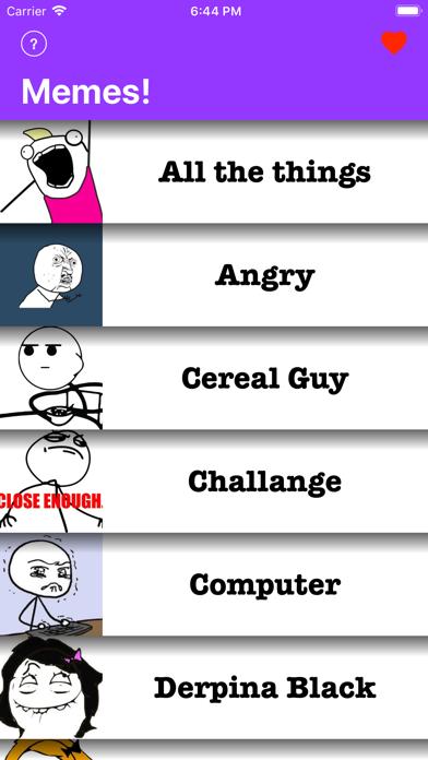 Memes - チャットを共有するミームのスクリーンショット1