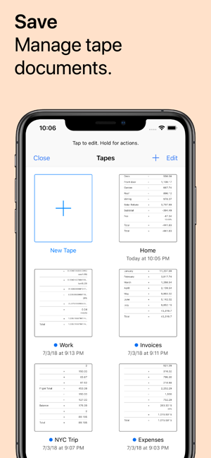 ‎Digits Tape Calculator Screenshot