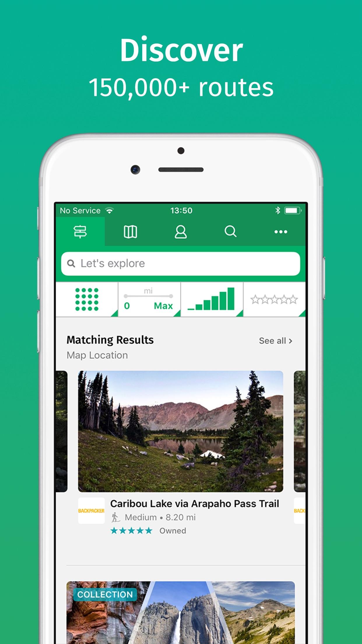 ViewRanger: Hike, Bike or Walk Screenshot
