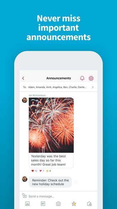 Crew Messaging and Scheduling Screenshot