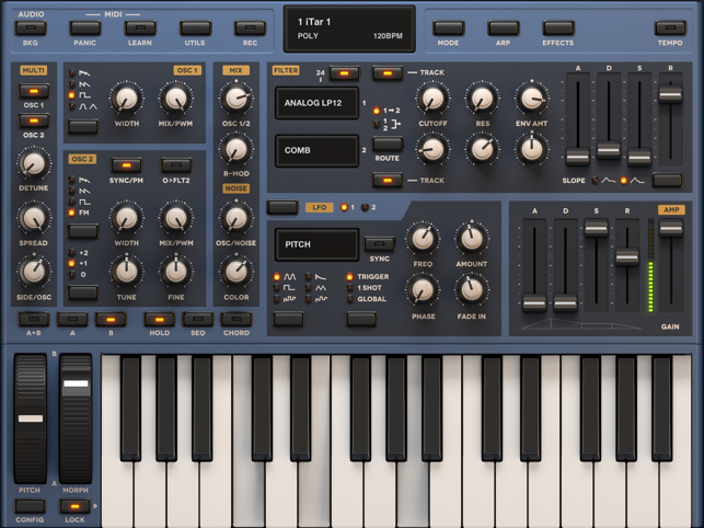 Sunrizer synthesizer, auv3 Screenshot