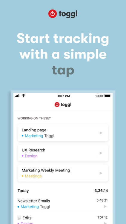Toggl: Time Tracker for Work screenshot-7