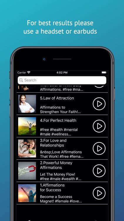 Affirmations Audio App screenshot-3