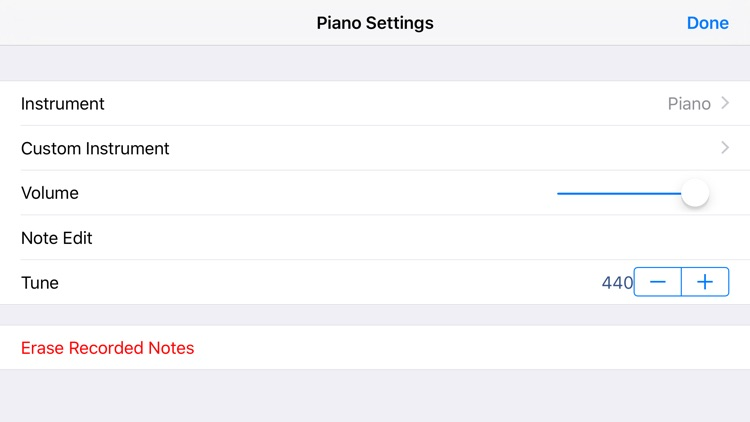 Piano for iPhones