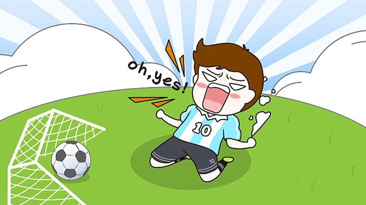 Soccer Boy Sticker