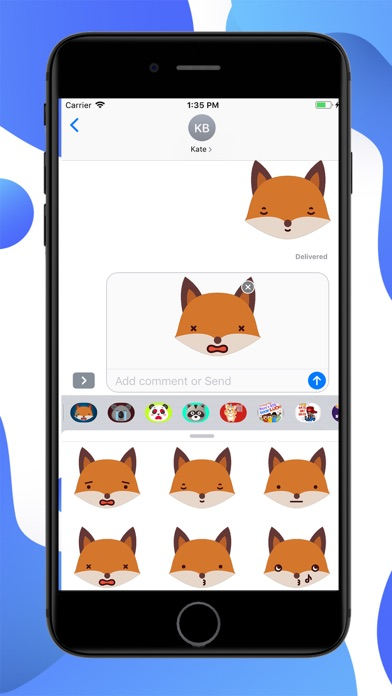 Fox Funny Emoji Stickers screenshot 2