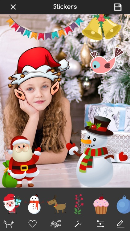 Christmas Photo Editor Sticker screenshot-3