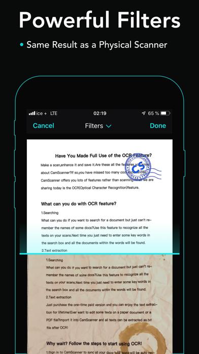 Screenshot of cam scanner+ PDF Scanner app2