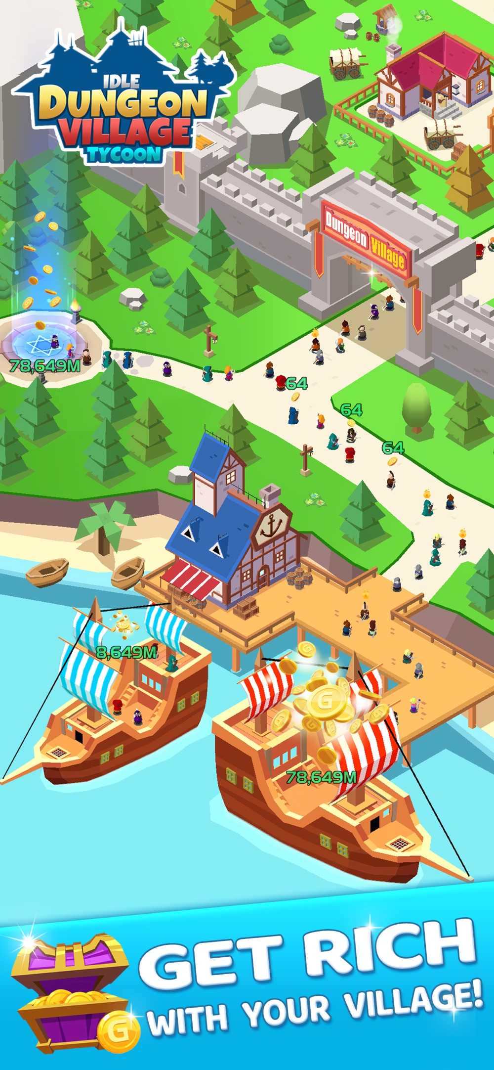 Idle Dungeon Village Tycoon hack tool