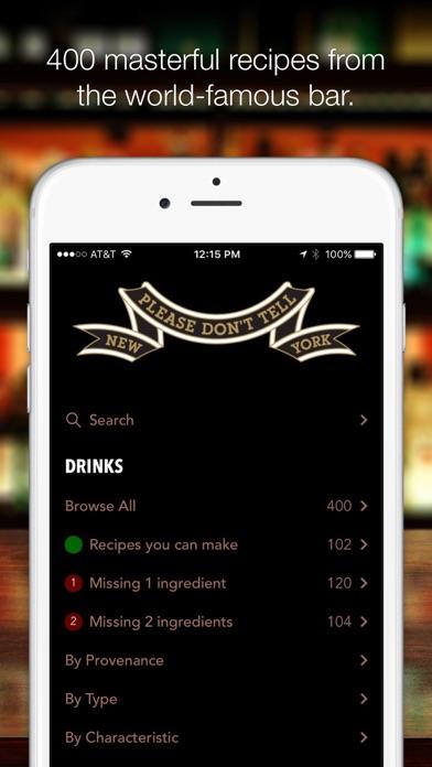 PDT Cocktails Screenshot