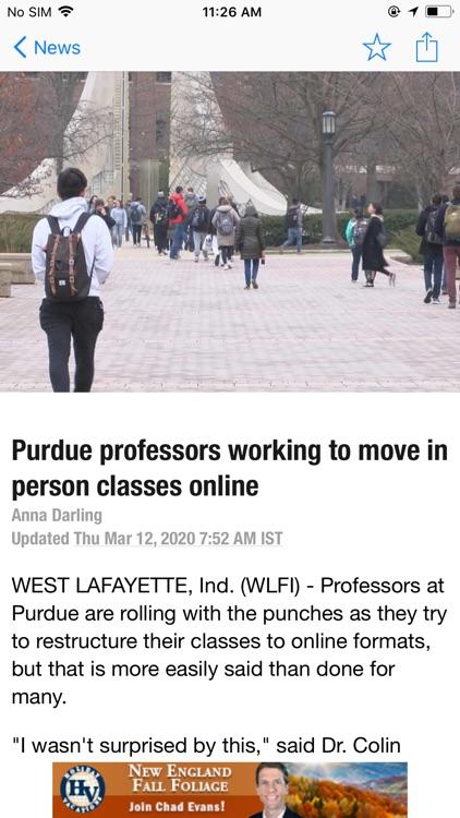 WLFI-TV News Channel 18 screenshot-3