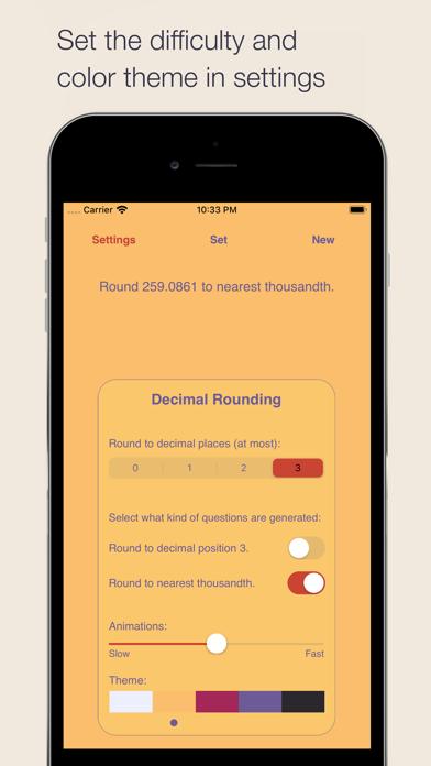 Decimal Rounding Screenshots