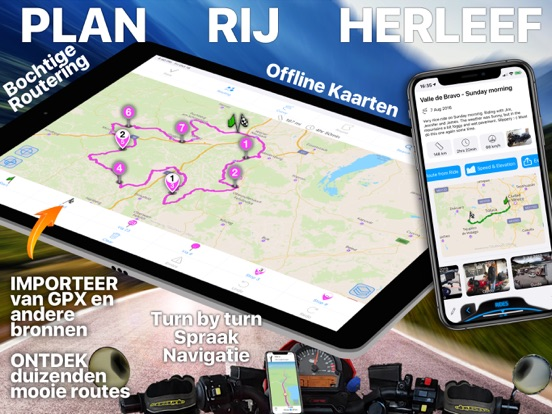 Scenic Motor Navigatie iPad app afbeelding 1