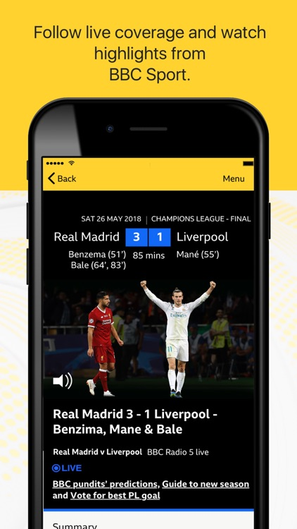 BBC Sport - News & Live Scores screenshot-3