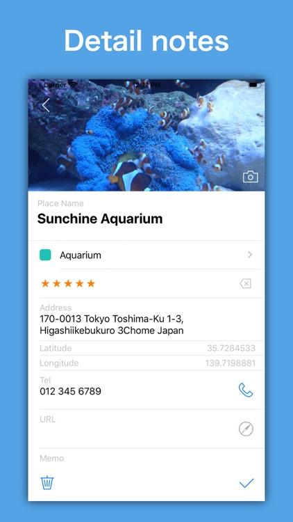 SpotNote - Location bookmark