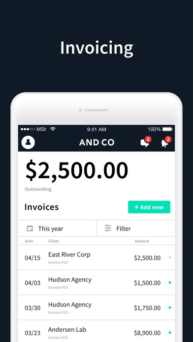 AND.CO - Invoicing & Expenses Screenshot