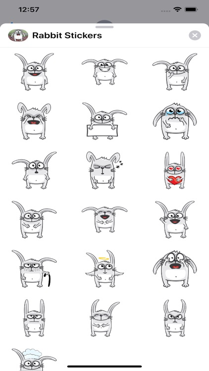 Rabbit Emoji Stickers