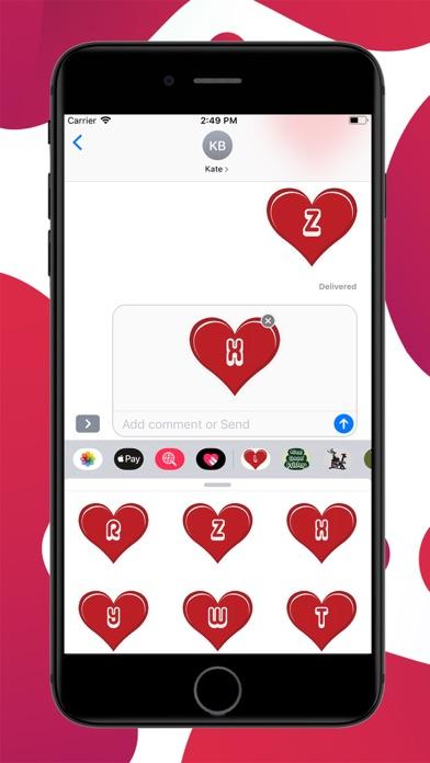 Heart Alphabets Stickers screenshot 3