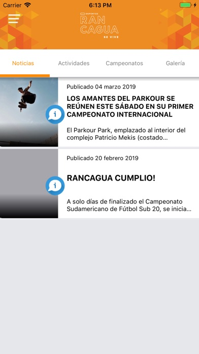 Screenshot for Rancagua Deportes in Chile App Store