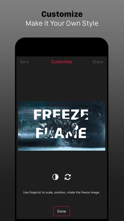 Freeze Frame Intro Movie Maker screenshot-4