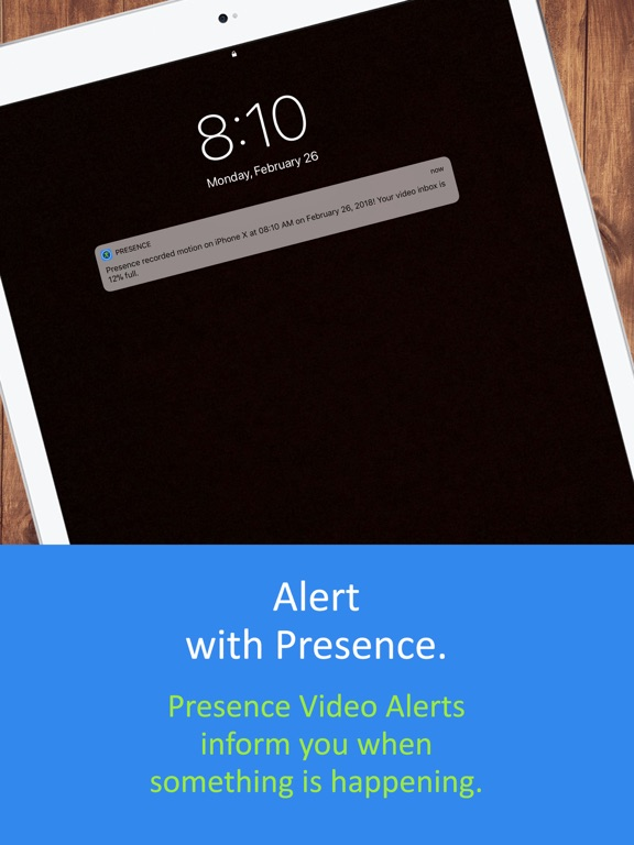 Presence: Free smart home motion detector webcam for security, surveillance, and energy screenshot