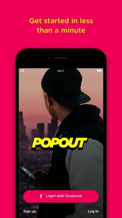Popout-live social audio app screenshot-5