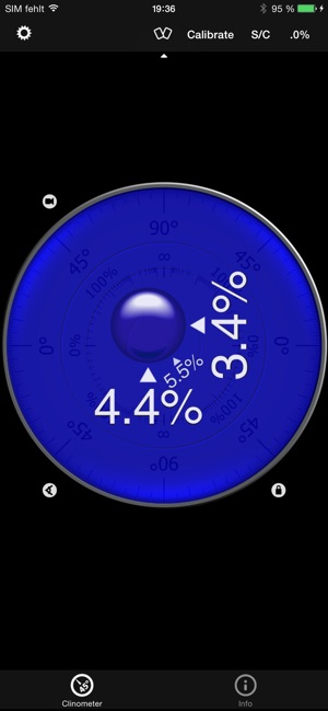 ‎Clinometer + bubble level