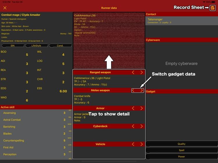 SR5 Runner sheet screenshot-4