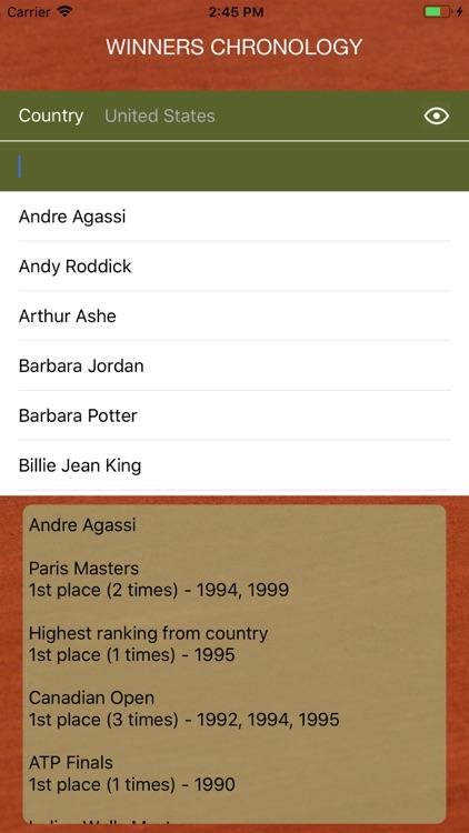 World Tennis Winners: Open Era screenshot-3