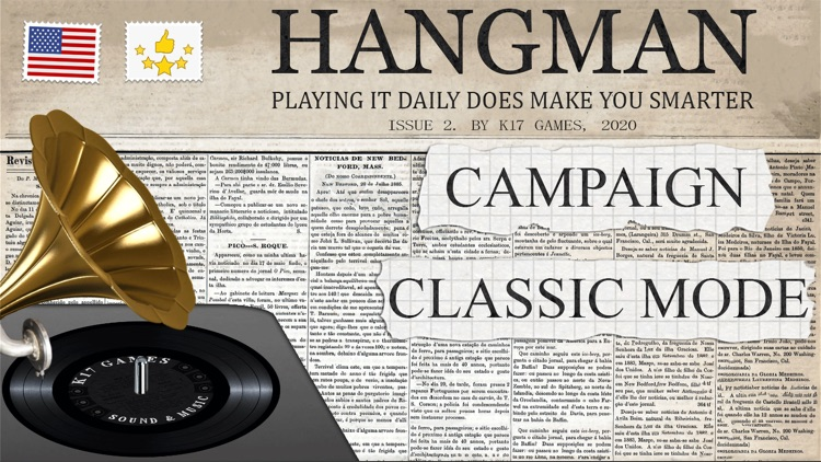 Hangman ▶ Classic word game