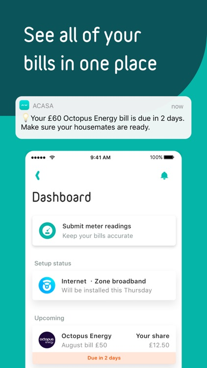 acasa - set-up & split bills