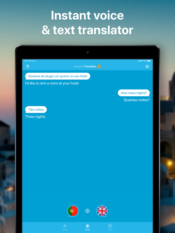 Speak & Translate - Free Live Voice and Text Translator with Speech Recognition screenshot