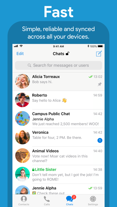 Screenshot for Telegram Messenger in Jordan App Store