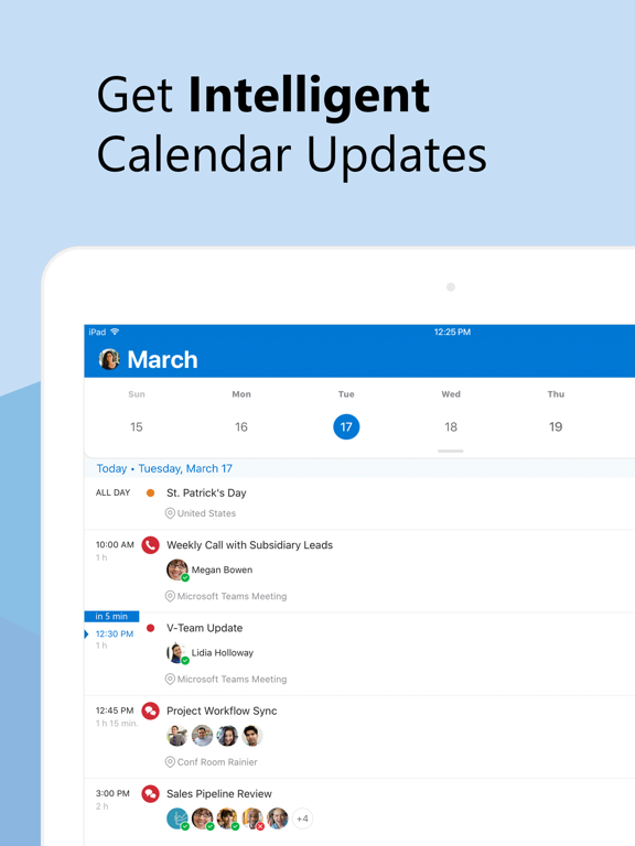 iPad Image of Microsoft Outlook