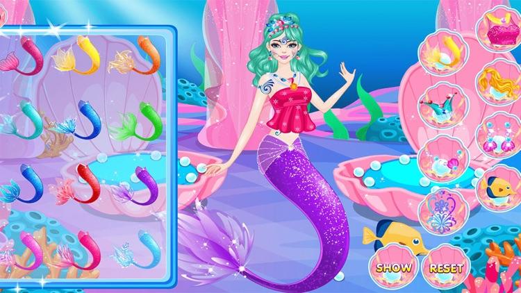 Mermaid Dress Up and Hairstyle screenshot-5