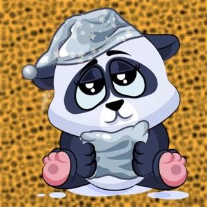 Stickers lazy panda