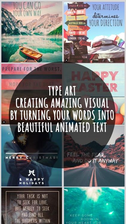 Type Art: Animated Text Videos screenshot-0