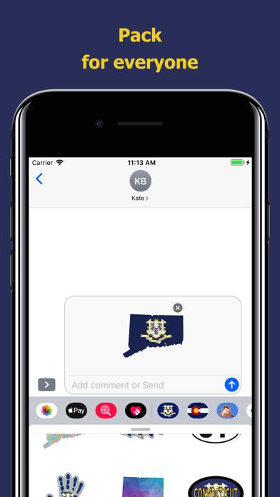 Connecticut emojis - USA moji screenshot 4