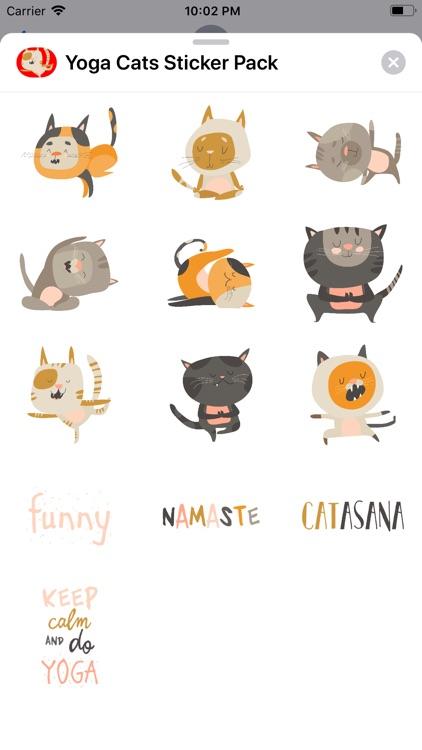 Cute Cat Yoga Stickers