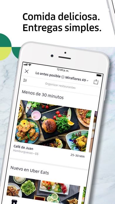 Screenshot for Uber Eats: Entregas de comida in Ecuador App Store