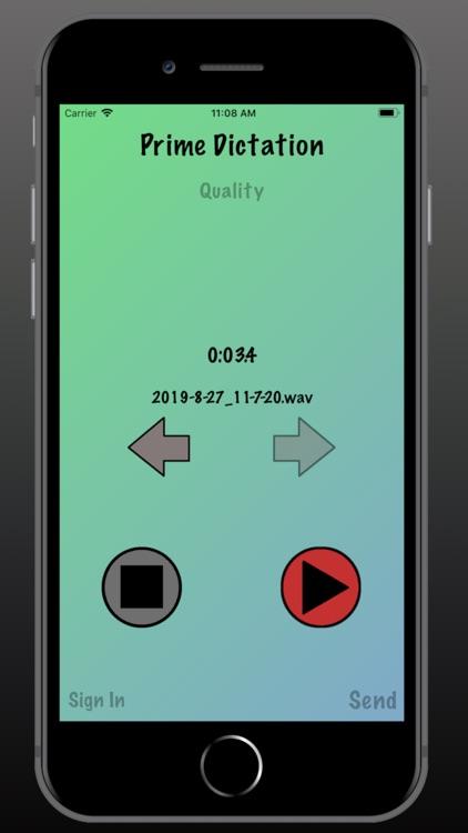 Prime Dictation - Audio Record screenshot-6